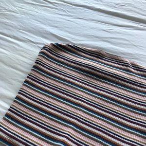 garage multicolour striped tube top